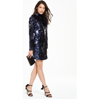 V By Very Sequin Bow Shift Dress