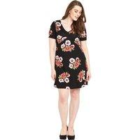 So Fabulous Floral Print Jersey Tea Dress