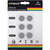 Polaroid 3V 6 Pack Lithium Button Cell Assortment Batteries