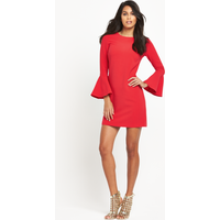 V By Very Fluted Sleeve Dress
