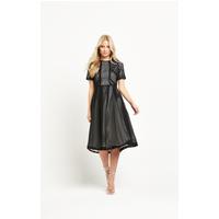 8th Sign Sleeve Midi Dress