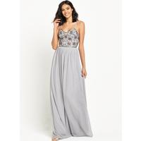 Maya Embellished Bodice Cami Strap Maxi Dress