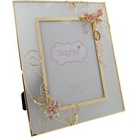 Glass and Metal Embellished Butterfly Photo Frame - 5x7