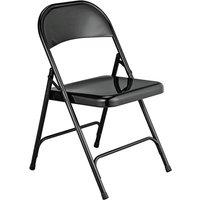 Habitat Macadam Metal Folding Chair - Black, Black