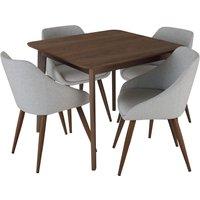 Habitat Skandi Walnut Veneer Dining Table and 4 Grey