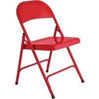 Habitat Macadam Metal Folding Chair - Red, Red