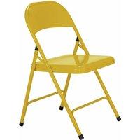 Habitat Macadam Metal Folding Chair - Yellow, Yellow