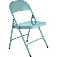 Habitat Macadam Metal Folding Chair - Blue, Sky Blue