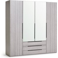 Habitat Hallingford 4 Door 3 Drawer Wardrobe - Grey Oak