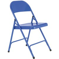Habitat Macadam Metal Folding Chair - Cobalt, Blue