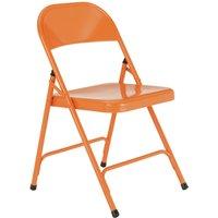 Habitat Macadam Metal Folding Chair - Orange, Orange