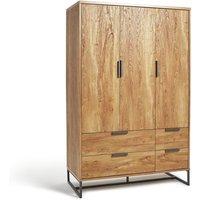 Habitat Nomad 3 Door 4 Drawer Wardrobe - Oak Effect, Oak Effect