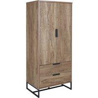 Habitat Nomad 2 Door 2 Drawer Wardrobe - Oak Effect, Oak Effect