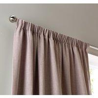 Habitat Blackout Linen Look Pencil Pleat Curtains Blush, Soft Pink
