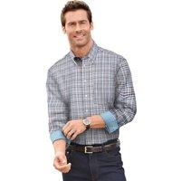 Maxclusiv Langarm-Hemd mit Button-Down-Kragen