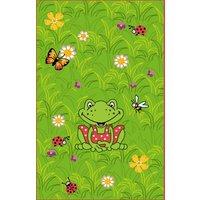 Kinderteppich Garden, Frosch Wiese grün Gr. 110 x 170