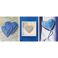 home affaire Home Kunstdruck Blue Hearts I-III Herzen (3 St)