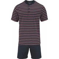 seidensticker Pyjama kurz Shorty mit Streifen und Knopfleiste