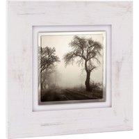 Home affaire Holzbild »Bäume im Nebel«