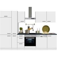 Optifit Küchenzeile Odense mit E-Geräten Breite 300 cm 28 mm starker Arbeitsplatte