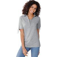 Classic Basics Poloshirt mit Ösen am Ausschnitt