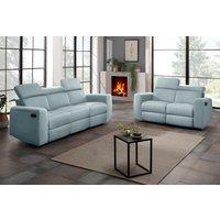 home affaire Home Polstermöbel-Set Sentrano bestehend aus dem 2- und 3 Sitzer wählbar zwischen einer manuellen oder motorischer Relaxfunktion