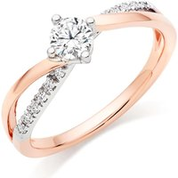 18ct Rose Gold And White Gold Diamond Ring