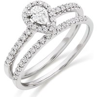 18ct White Gold Diamond Bridal Ring Set