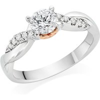 18ct White Gold And Rose Gold Diamond Ring