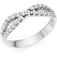18ct White Gold Diamond Infinity Ring