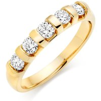 18ct Gold Diamond Five Stone Ring