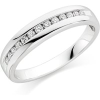 18ct White Gold Diamond Half Eternity Ring