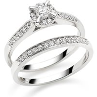 18ct White Gold Diamond Ring Set