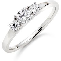 18ct White Gold Diamond Three Stone Ring