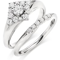 18ct White Gold Diamond Ring Bridal Set