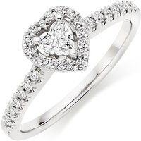 18ct White Gold Diamond Heart Ring