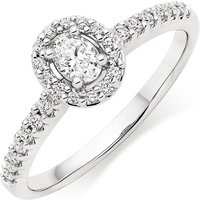 18ct White Gold Diamond Oval-shaped Ring