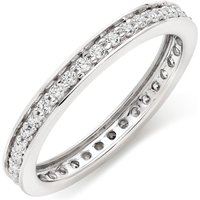9ct White Gold Cubic Zirconia Full Eternity Ring