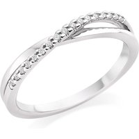 18ct White Gold Diamond Twist Eternity Ring
