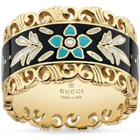 Gucci 18ct Gold And Enamel Ring