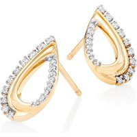 9ct Gold Diamond Teardrop Earrings