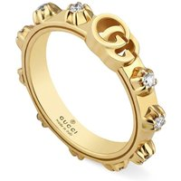 Gucci 18ct Gold Running G Diamond Ring