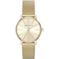 Armani Exchange Gold Tone Ladies Watch