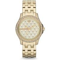 Armani Exchange Gold Tone Crystal Ladies Watch
