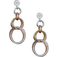 Links Of London Aurora Three-colour Metal Link Earrings