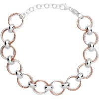 Links Of London Aurora Silver Rose Gold Plated Bracelet