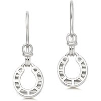 Links Of London Ascot Silver Horseshoe Drop Earrings