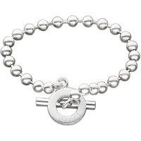 Gucci Boule Silver T-bar Bracelet