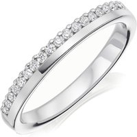 18ct White Gold Diamond Ladies Wedding Ring