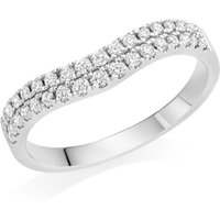 18ct White Gold Diamond Half Eternity Wedding Ring